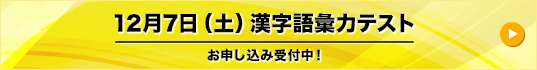 12月7日(土)漢字語彙力テスト